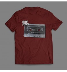 T-SHIRT MĘSKI TAPE TEE BORDO